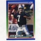 1990 Score Football #342 Steve Beuerlein - Los Angeles Raiders