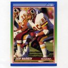 1990 Score Football #331 Don Warren - Washington Redskins