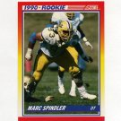 1990 Score Football #295 Marc Spindler RC - Detroit Lions
