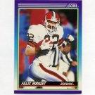 1990 Score Football #122 Felix Wright - Cleveland Browns