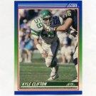 1990 Score Football #064 Kyle Clifton - New York Jets