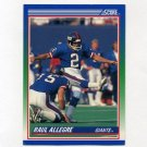 1990 Score Football #054 Raul Allegre - New York Giants
