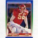 1990 Score Football #042 Dino Hackett - Kansas City Chiefs