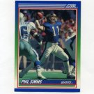 1990 Score Football #005 Phil Simms - New York Giants