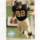 1991 Pro Set Platinum Football #105 Burt Grossman UER - San Diego Chargers
