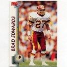 1992 Pro Set Football #672 Brad Edwards - Washington Redskins