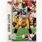 1992 Pro Set Football #631 Greg Lloyd - Pittsburgh Steelers