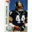 1992 Pro Set Football #629 D.J. Johnson - Pittsburgh Steelers