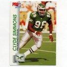 1992 Pro Set Football #613 Clyde Simmons - Philadelphia Eagles