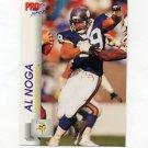 1992 Pro Set Football #569 Al Noga - Minnesota Vikings