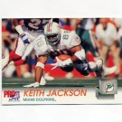 1992 Pro Set Football #558 Keith Jackson - Miami Dolphins