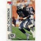 1992 Pro Set Football #537 Eric Dickerson - Los Angeles Raiders