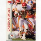 1992 Pro Set Football #534 Christian Okoye - Kansas City Chiefs