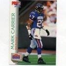 1992 Pro Set Football #405 Mark Carrier PB - Chicago Bears