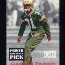 1993 Power Football Draft Picks #09 George Teague UER - Green Bay Packers