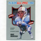 1990 Fleer Football All-Pros #09 Mike Munchak - Houston Oilers