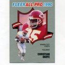 1990 Fleer Football All-Pros #05 Christian Okoye - Kansas City Chiefs