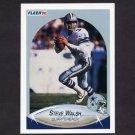 1990 Fleer Football #396 Steve Walsh - Dallas Cowboys