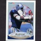 1990 Fleer Football #390 Jim Jeffcoat - Dallas Cowboys