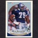 1990 Fleer Football #386 Willie Broughton - Dallas Cowboys