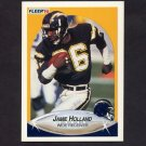 1990 Fleer Football #309 Jamie Holland - San Diego Chargers