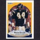 1990 Fleer Football #304 Martin Bayless RC - San Diego Chargers