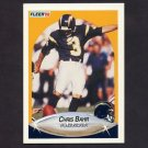 1990 Fleer Football #303 Chris Bahr UER - San Diego Chargers