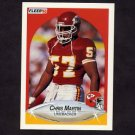 1990 Fleer Football #205 Chris Martin RC - Kansas City Chiefs