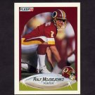 1990 Fleer Football #163 Ralf Mojsiejenko - Washington Redskins