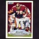 1990 Fleer Football #158 Jim Lachey - Washington Redskins