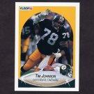 1990 Fleer Football #144 Tim Johnson - Pittsburgh Steelers