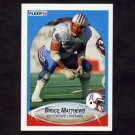 1990 Fleer Football #131 Bruce Matthews - Houston Oilers