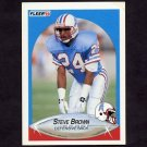 1990 Fleer Football #125 Steve Brown - Houston Oilers
