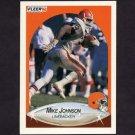 1990 Fleer Football #050 Mike Johnson - Cleveland Browns