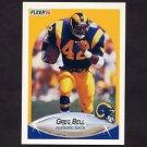 1990 Fleer Football #034 Greg Bell - Los Angeles Rams