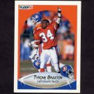 1990 Fleer Football #019 Tyrone Braxton - Denver Broncos