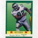 1991 Fleer Football #397 Reggie White HIT - Philadelphia Eagles