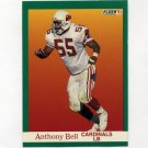 1991 Fleer Football #338 Anthony Bell - Phoenix Cardinals