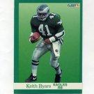 1991 Fleer Football #325 Keith Byars - Philadelphia Eagles