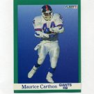 1991 Fleer Football #308 Maurice Carthon - New York Giants