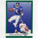 1991 Fleer Football #305 Ottis Anderson - New York Giants