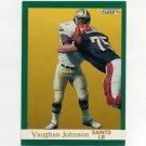 1991 Fleer Football #297 Vaughan Johnson - New Orleans Saints