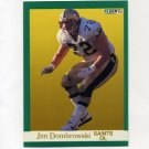 1991 Fleer Football #292 Jim Dombrowski - New Orleans Saints