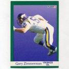 1991 Fleer Football #290 Gary Zimmerman - Minnesota Vikings