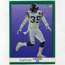 1991 Fleer Football #285 Carl Lee - Minnesota Vikings