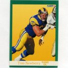 1991 Fleer Football #274 Tom Newberry - Los Angeles Rams