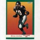 1991 Fleer Football #205 Brian Jordan - Atlanta Falcons