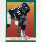 1991 Fleer Football #204 Keith Jones - Atlanta Falcons