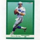 1991 Fleer Football #191 Dave Krieg - Seattle Seahawks