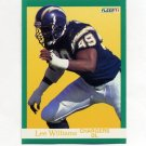 1991 Fleer Football #182 Lee Williams - San Diego Chargers